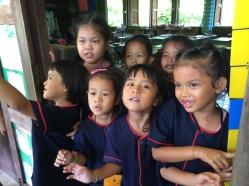 Visiting kids at school in Sukhothai, Thailand