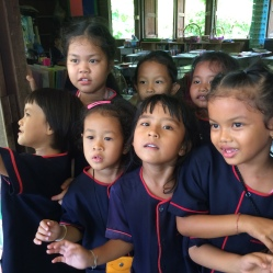 Visiting kids at school in Sukhothai, Thailand