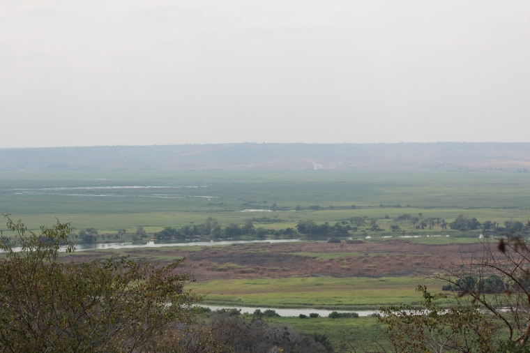 View of the River Kwanza from the camp