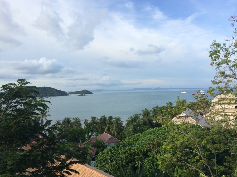 The view from our room at the Cape Panwa.