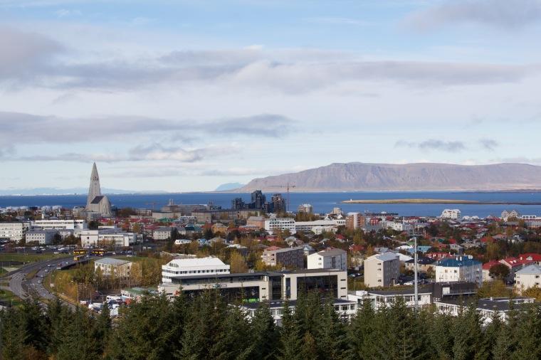 View from Veitingahúsið Perlan (The Pearl)