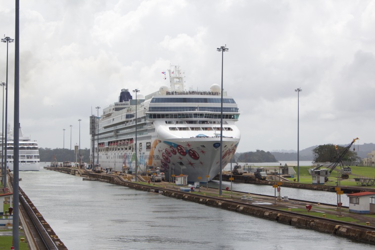 NCL Pearl in the Gatun Locks, Panama Canal